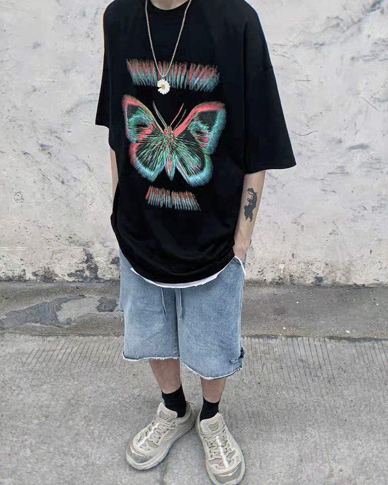 《2色》バタフライモーションブラーTシャツの画像7